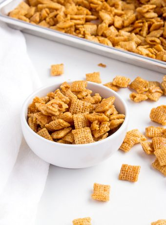 Caramel Chex Mix Recipe | The Bearfoot Baker