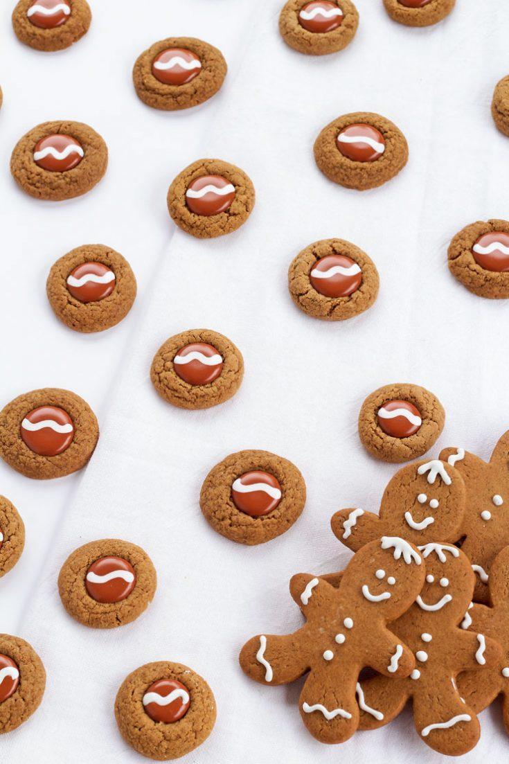 Gingerbread Thumbprint Cookies