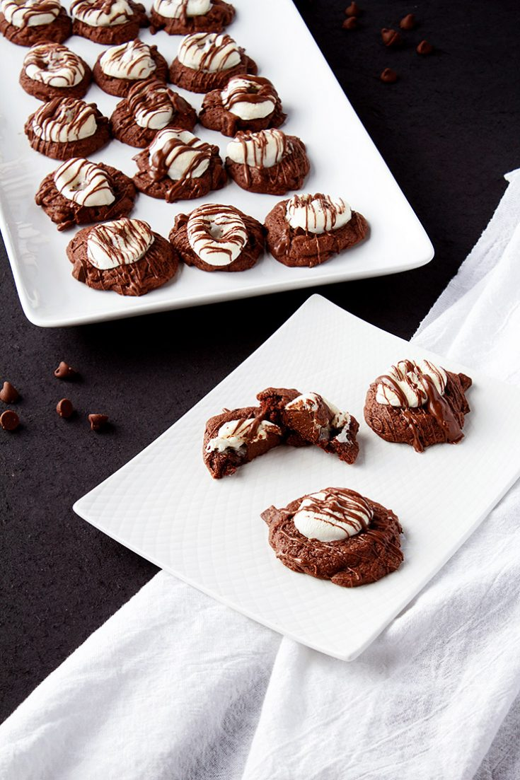 Hot Chocolate Cookies from a Cookie Mix