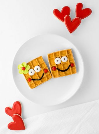 How To Make Waffle Valentine's Cookies | The Bearfoot Baker