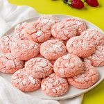 Strawberry Crinkle Cookies   The Bearfoot Baker