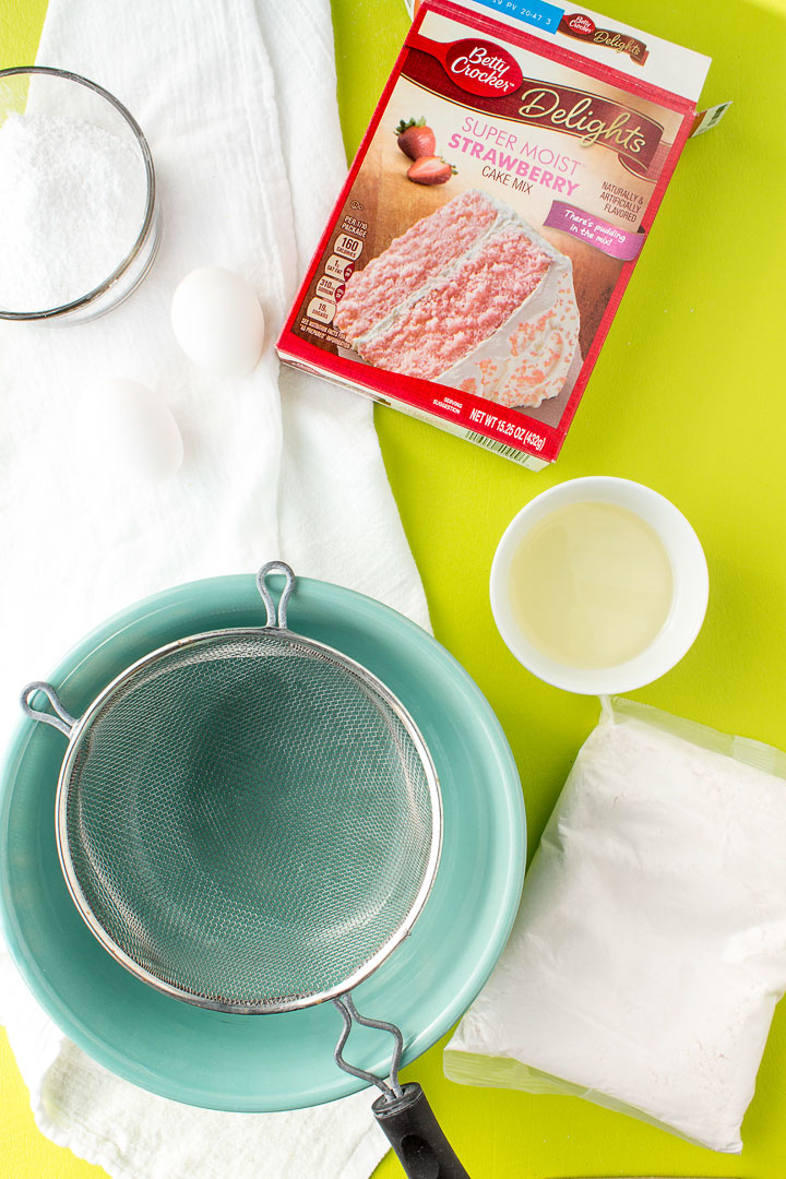 Strawberry Crinkle Cookies from a Cake Mix   The Bearfoot Baker