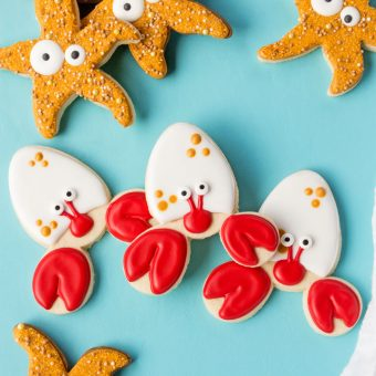 How t Make Simple Crab Cookies | The Bearfoot Baker