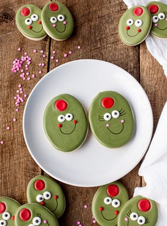 Olive You My Cute Little Valentine - Sugar Cookies | The Bearfoot Baker
