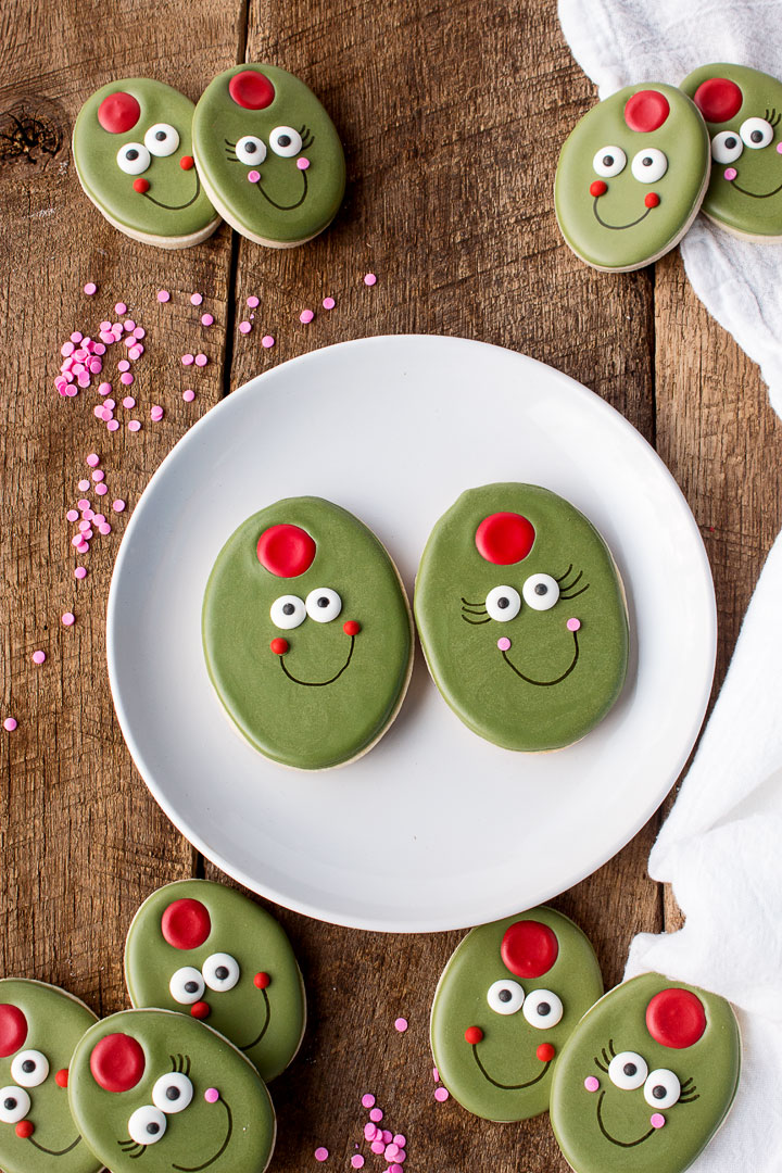 Olive You My Cute Little Valentine - Sugar Cookies   The Bearfoot Baker