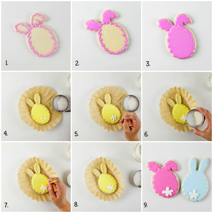 Easter Egg Bunny Cookies with a Cute Little Tail | The Bearfoot Baker