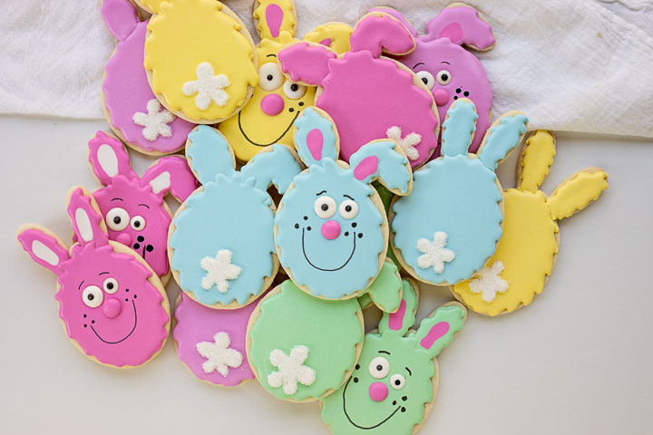 Hip Hop Easter Egg Bunny Cookies | The Bearfoot Baker