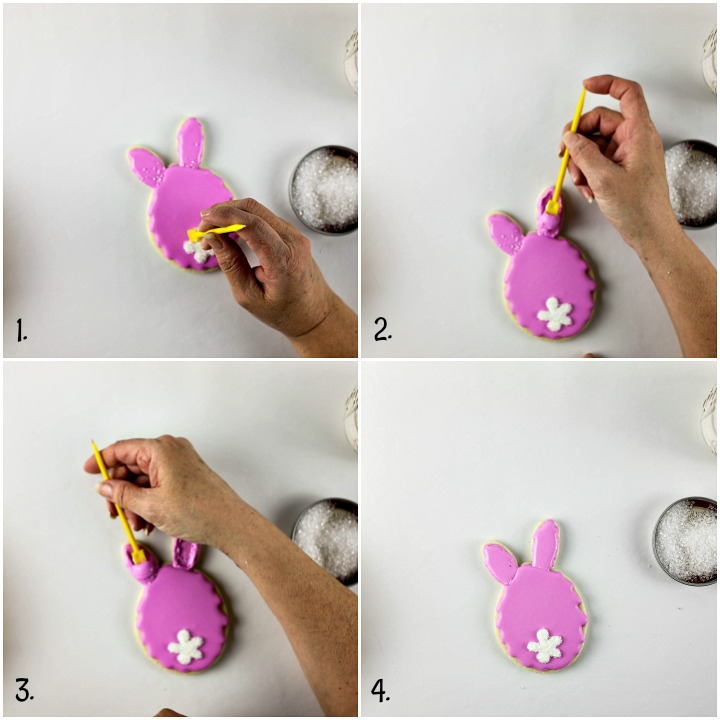 How to Fix A Sanding Sugar Mistake on Easter Egg Bunny Cookies | The Bearfoot Baker