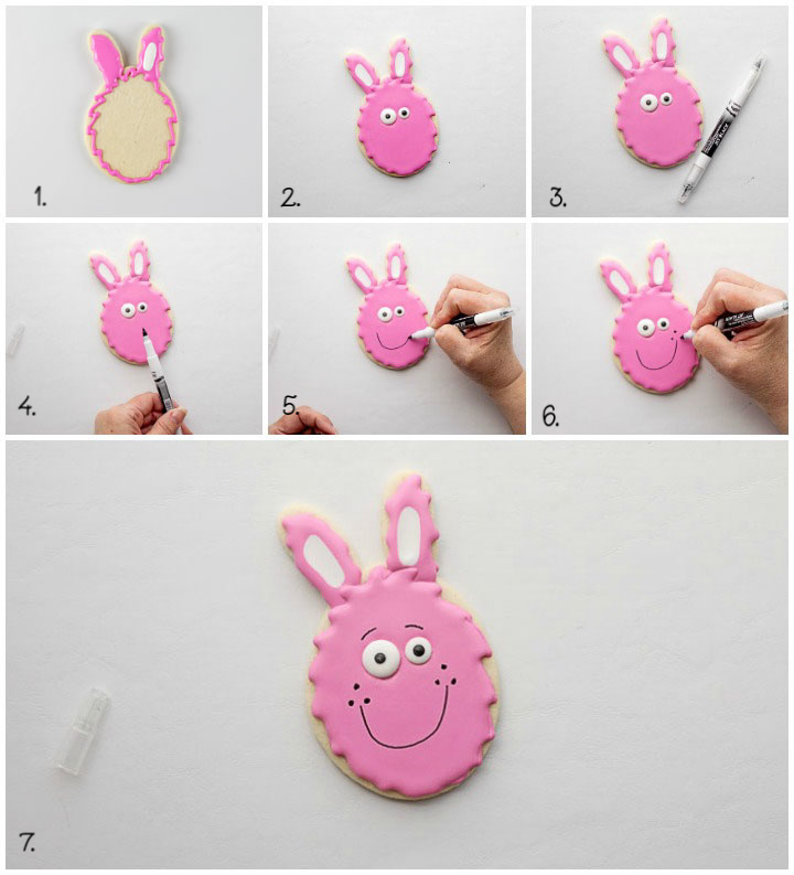 How to Make Cute Easter Egg Bunny Cookies | The Bearfoot Baker