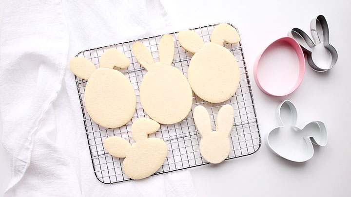 Three Cookie Cutters and You can make Easter Egg Bunnt Cookies | The Bearfoot Baker