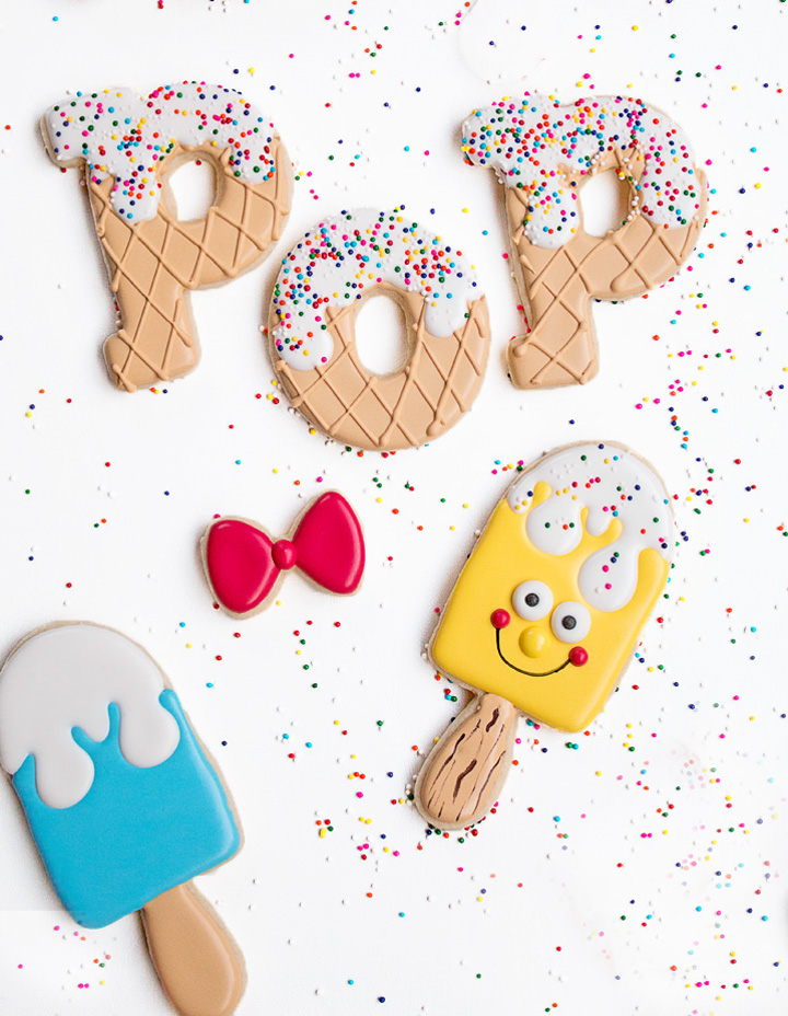 Happy Birthday You Super Pop - Super Fun Popsicle Cookies | The Bearfoot Baker