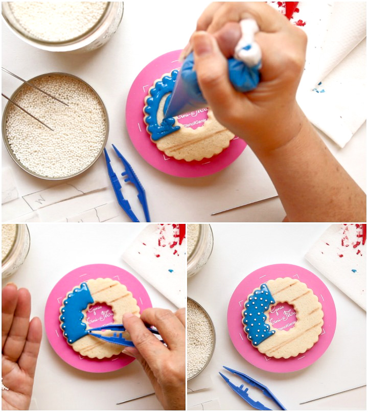 How to Make Simple Patriotic Wreath Cookies with a Video   The Bearfoot Baker