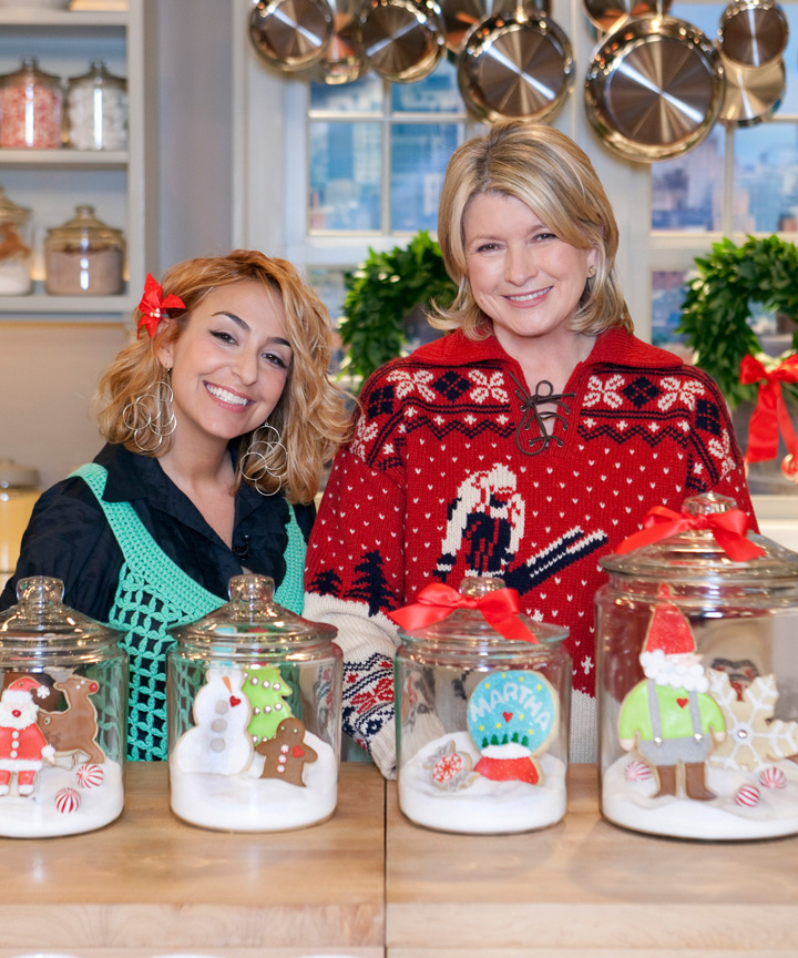 Sweet Dani B-Dani Fiori and Martha Stewart Christmas Cookie Show Cookie Jars | The Bearfoot Baker