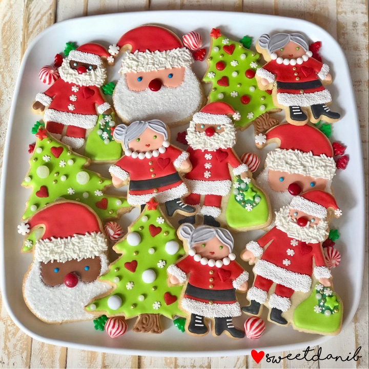 Sweet Dani B Santa Mrs. Clause Cookie Platter | The Bearfoot Baker