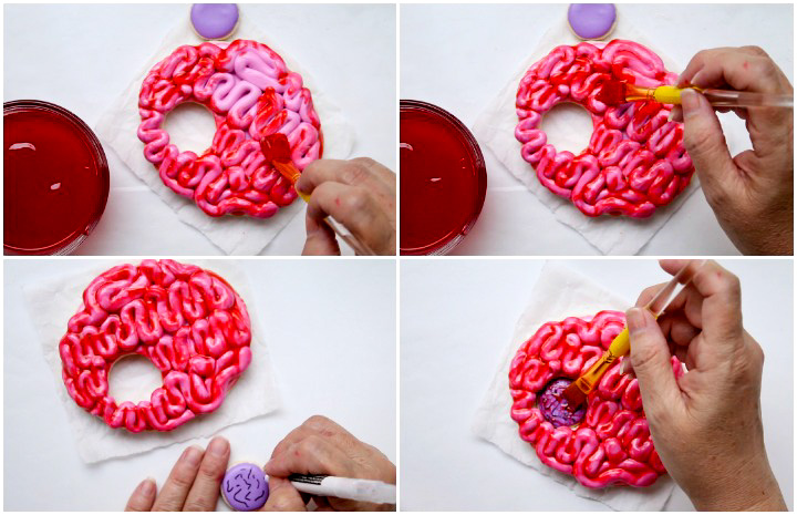 This is MY BRAIN and You Can't Have It Bouncer Red Piping Gel | The Bearfoot Baker