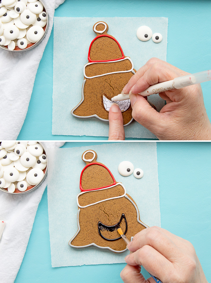 Crazy Santa Shark Cookies | The Bearfoot Baker
