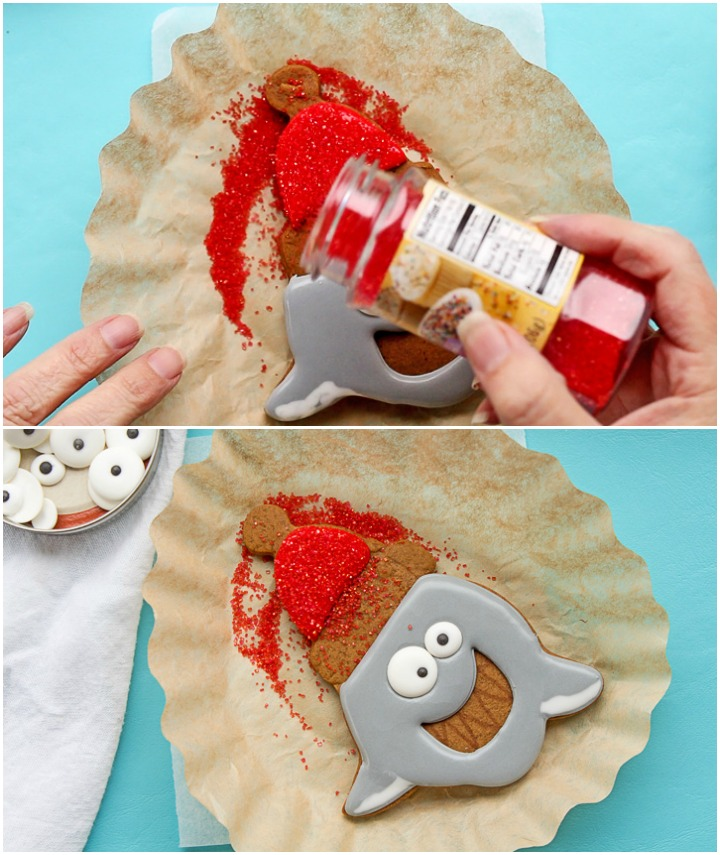 Hilarious Santa Shark Cookies | The Bearfoot Baker