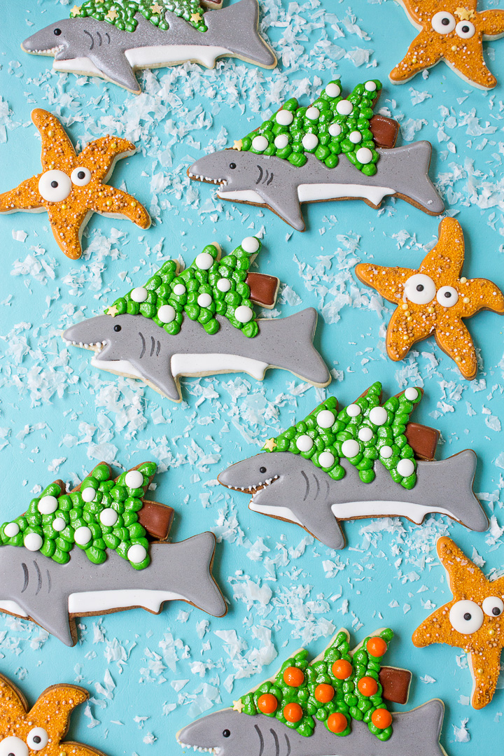 How to Make Christmas Cookies for Shark Week | The Bearfoot Baker