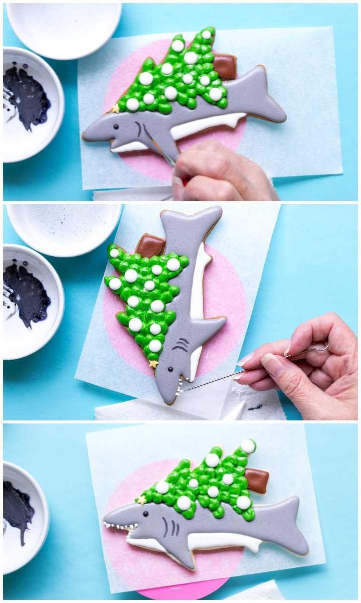 Make Christmas Cookies for Shark Week | The Bearfoot Baker