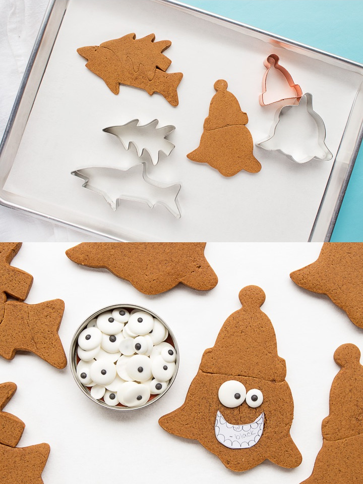 Silly Santa Shark Cookies | The Bearfoot Baker