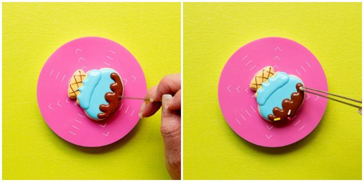 Happy Little Mini Ice Cream Cone Cookies | The Bearfoot Baker