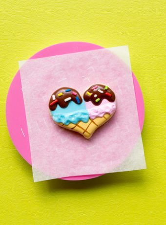 How to Make Heart Ice Cream Cone Cookies | The Bearfoot Baker