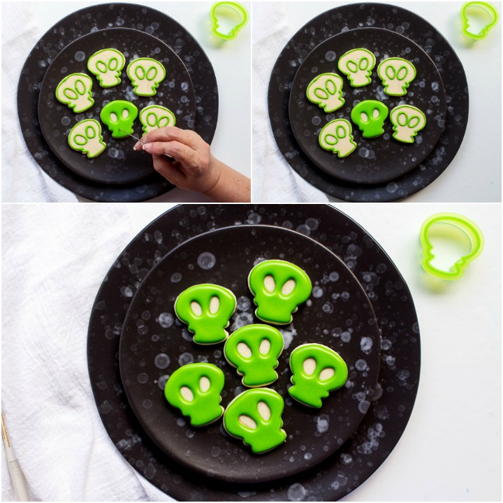 How to Make Little Mini Alien Cookies | The Bearfoot Baker