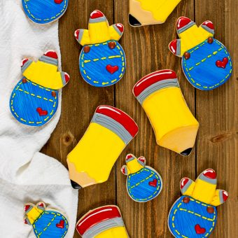 How to Make Pencil Sugar Cookies | The Bearfoot Baker