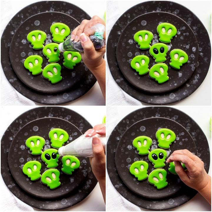 Little Mini Alien Cookies | The Bearfoot Baker