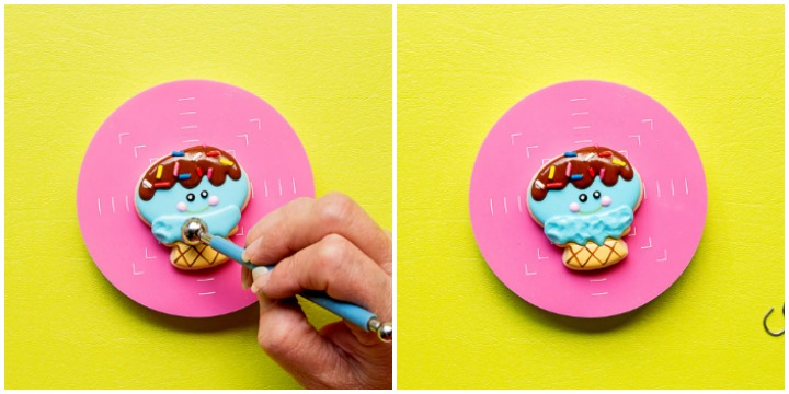 Simple Little Mini Ice Cream Cone Cookies | The Bearfoot Baker