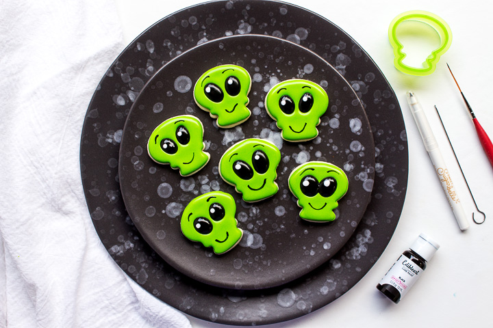 Strange Little Mini Alien Cookies | The Bearfoot Baker
