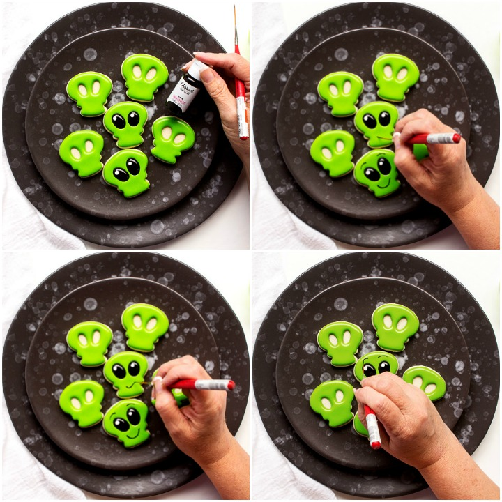 Strange Mini Alien Cookies | The Bearfoot Baker
