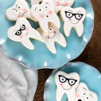 Wisdom Teeth Cookies Sugar Cookies decorated with royal icing