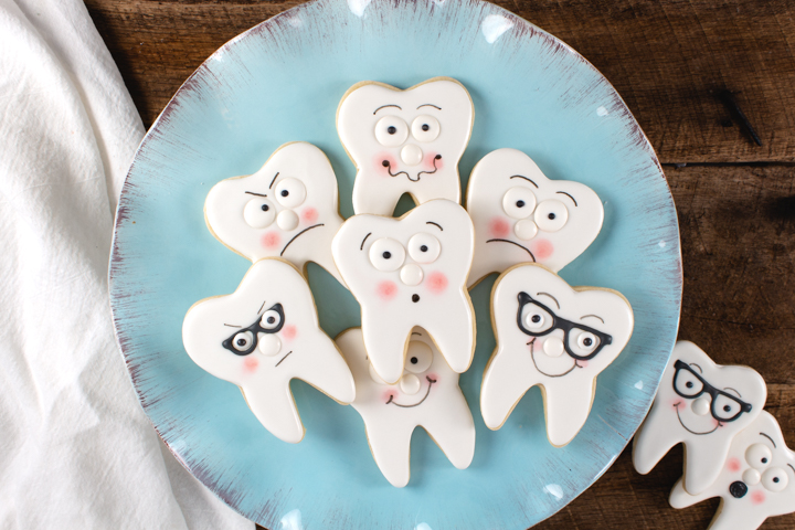 Wisdom Teeth Cookies Sugar Cookies decorated with royal icing
