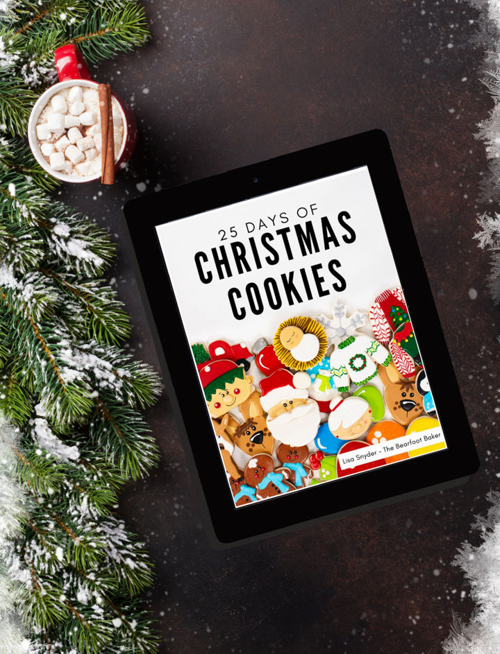 Christmas Cookie eBook, Christmas cookies, cookie decorating, decorated sugar cookies, holiday cookies