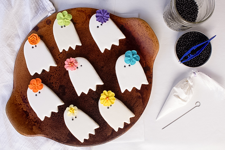 ghost, ghost cookies, sugar cookies, halloween cookies, girl cookies