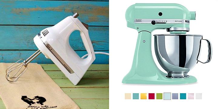 hand mixer and KitchenAid Mixer