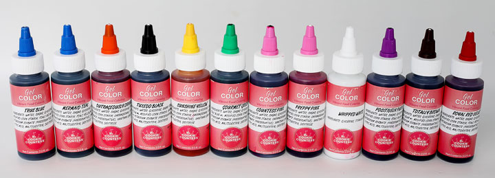 food gel colors