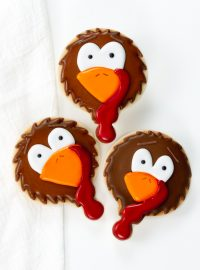 turkey cookies, sugar cookies, royal icing, Thanksgiving Treats