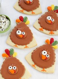 turkey cookie, birthday hat, hat, turkey, cookie decorating, sugar cookie, royal icing, Thanksgiving