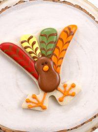 Sugar cookies, royal icing, turkey, turkey cookies, Thanksgiving