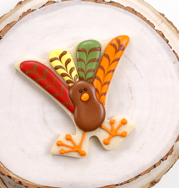 Sugar cookies, royal icing, turkey, turkey cookies, Thanksgiving