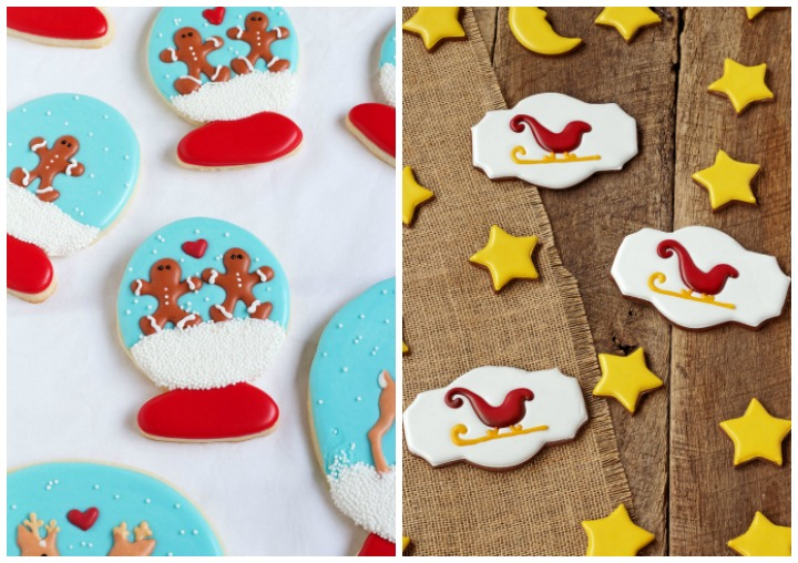 royal icing transfers sleighs and gingerbread men