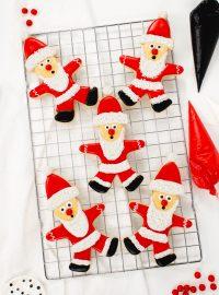 Grinch's Santa cookies