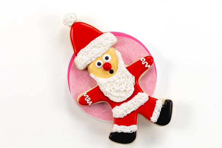 The Grinch, Grinch Santa Cookies, Christmas Cookies, Santa Cookie, Cookie Tutorial, Sugar Cookie Tutorial, Royal Icing