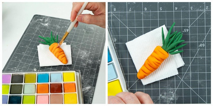 fondant, carrots, Easter, fondant carrots