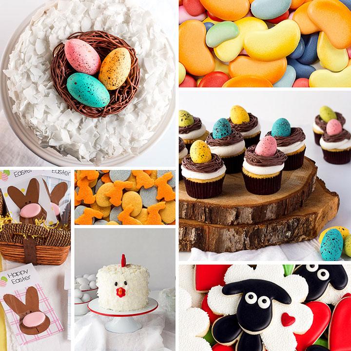 Easter, bunny, cake, cookies, fondant, treat bag,