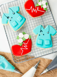 sugar cookies, decorated sugar cookies, cookie decorating, nurse, nurse cookies, royal icing,