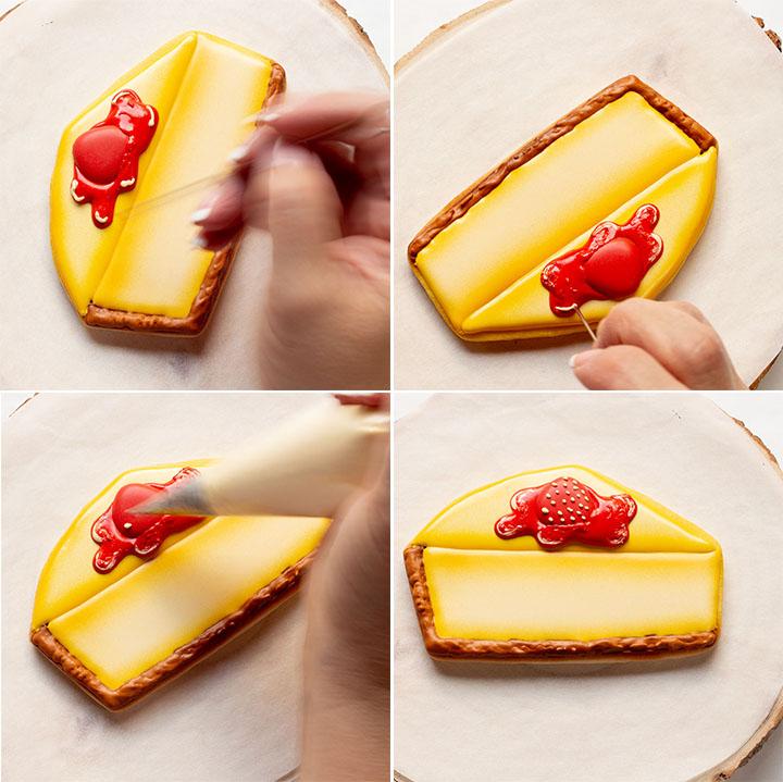 The Bearfoot Baker, Cheesecake, Cheesecake Cookies, Cheesecake Day, Cookie Decorating, Cookie Decorating Tutorial, Decorated Cookies, Royal Icing, Sugar Cookies, Edible Art