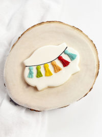sugar cookies, birthday cookies, tassel cookies, the bearfoot baker, royal icing, sugar cookies, cookie tutorial, decorated cookies, cookie decorating